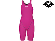 Arena Powerskin ST 2.0 Full Body Short Leg Girls Racing Swimsuit (Fuchsia)