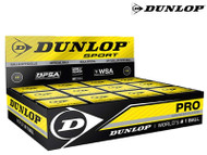 Dunlop Pro Double Yellow Dot Squash Ball (Box Of 12)