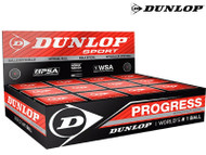 Dunlop Progress Red Dot Squash Ball (Box Of 12)