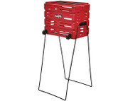 Tourna Ballport Delux With Wheels Red