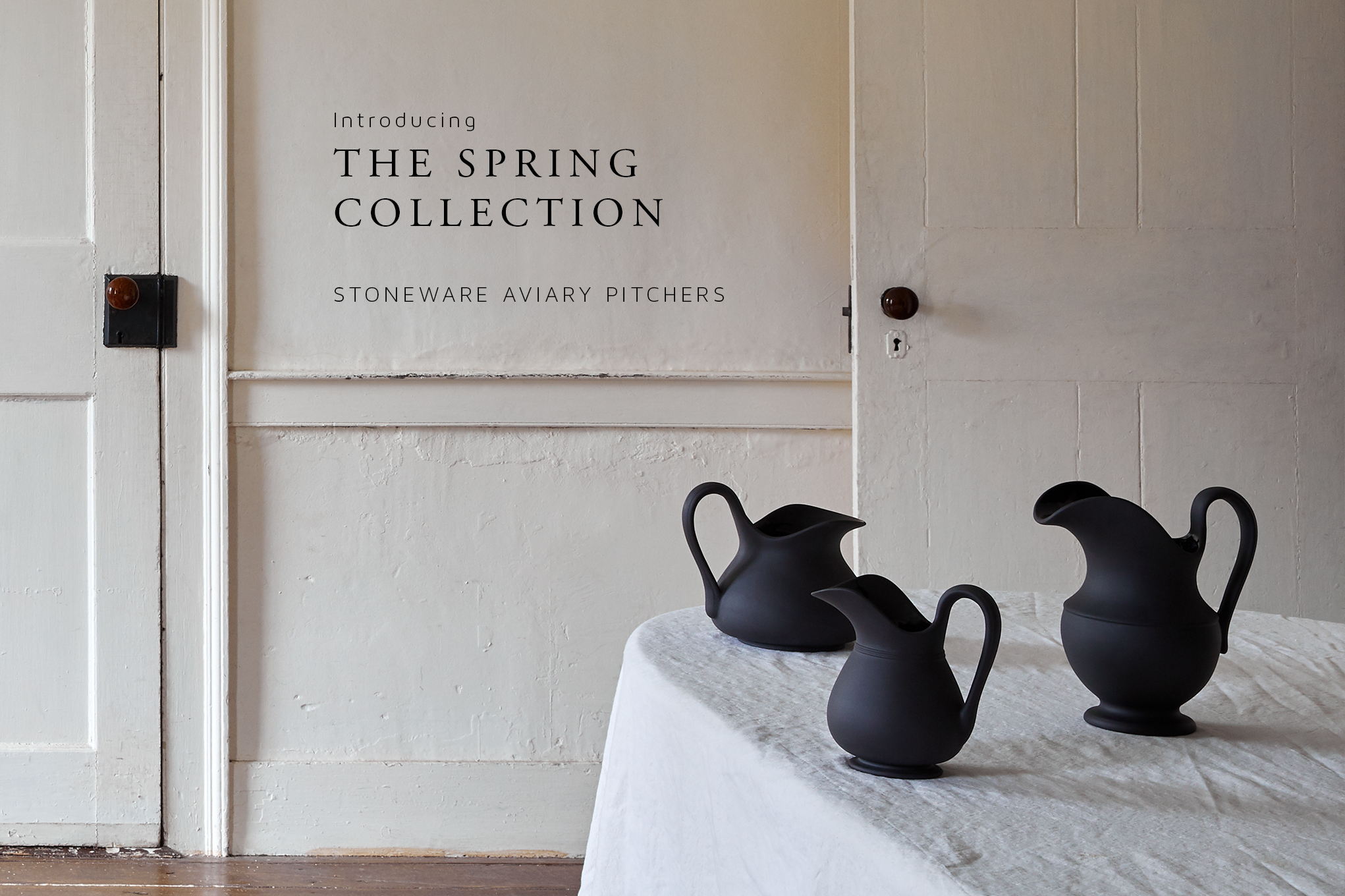 Introducing the Spring Collection: Aviary Pitchers