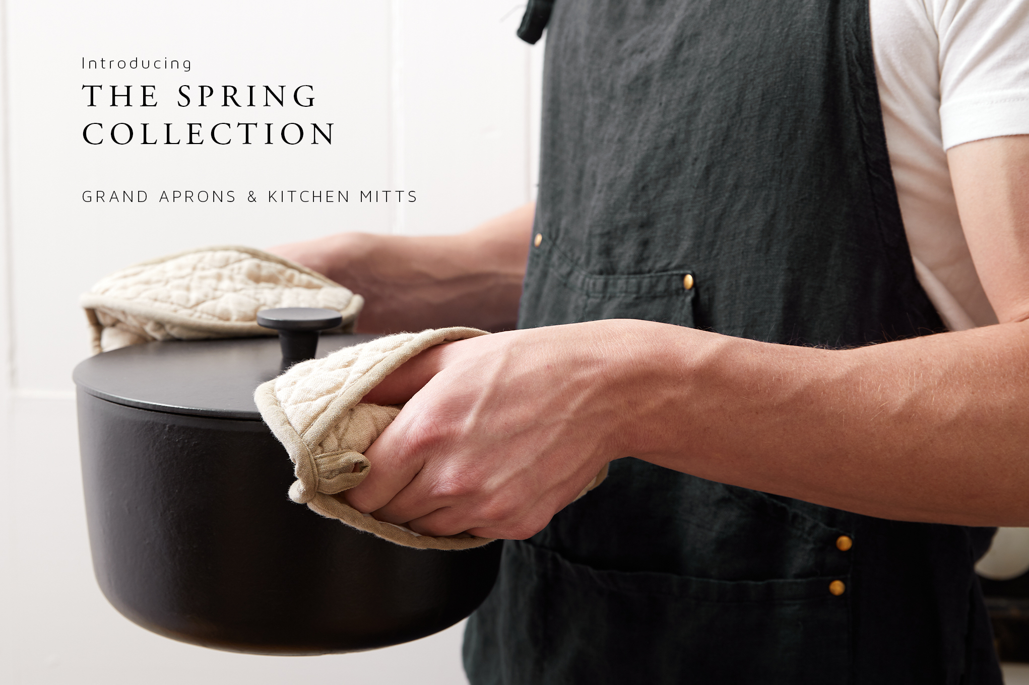 Introducing the Spring Collection: Grand Aprons & Kitchen Mitts