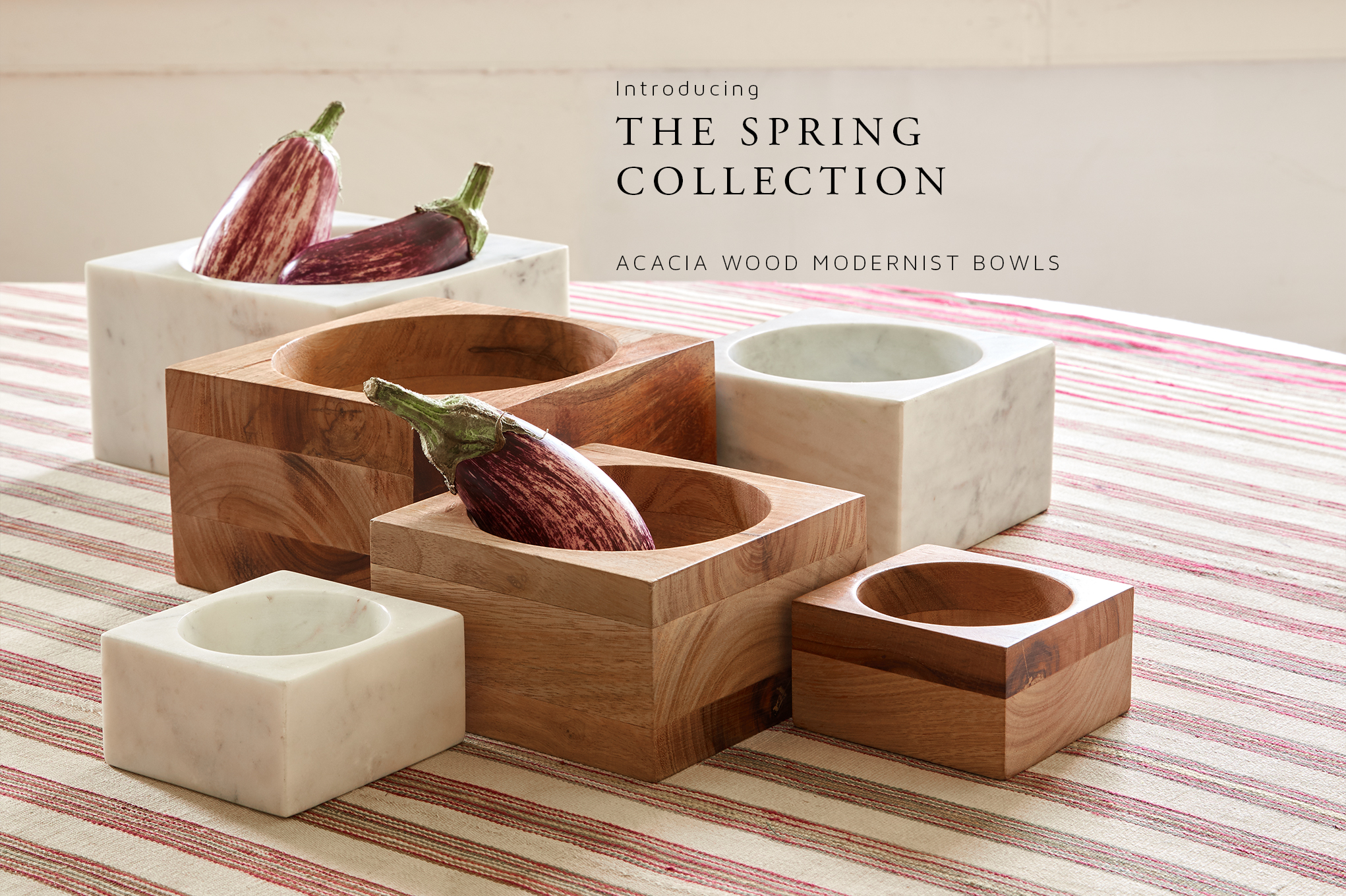 Introducing the Spring Collection: Acacia Wood Modernist Bowl