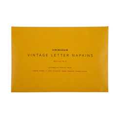 ED. 3, LETTERS OF ADVICE NAPKINS, SET OF 4
