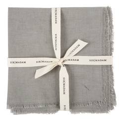 SOLID LINEN NAPKINS, DOVE, SET OF 4