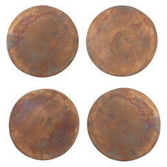 Copper Coasters, Set of 4