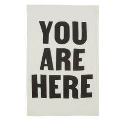 You Are Here Pure Linen Tea Towel