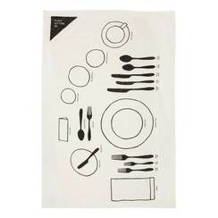 Place Setting 101 Pure Linen Tea Towel