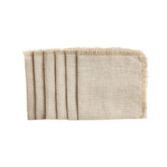 Cocktail Napkins, Natural, Set of 6