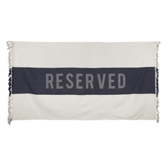 Reserved Beach Towel, Indigo