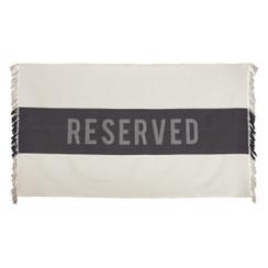 Reserved Beach Towel, Black