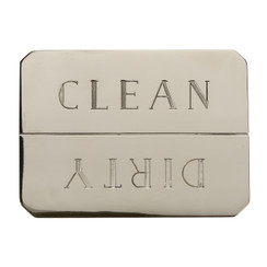 NICKEL-PLATED CLEAN/DIRTY DISHWASHER MAGNET