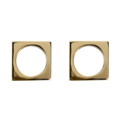 BRASS MODERNIST NAPKIN RINGS, SET OF 2