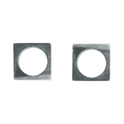 GRAY MARBLE MODERNIST NAPKIN RINGS, SET OF 2
