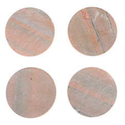 PINK MARBLE MODERNIST COASTERS