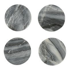 GRAY MARBLE MODERNIST COASTERS