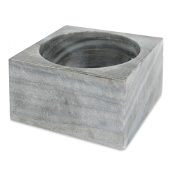 GRAY MARBLE MODERNIST BOWL, MEDIUM