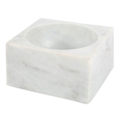 WHITE MARBLE MODERNIST BOWL, LARGE