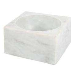 WHITE MARBLE MODERNIST BOWL, LARGE