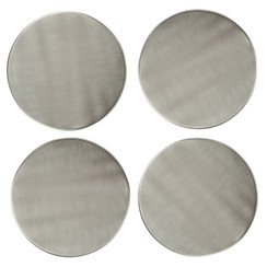NICKEL-PLATED COASTERS