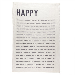 HAPPY PURE LINEN TEA TOWEL