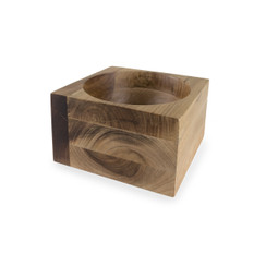 Acacia Wood Modernist Bowl, Large