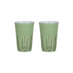 Rialto Glass Tumbler Set/2, Pale Sage