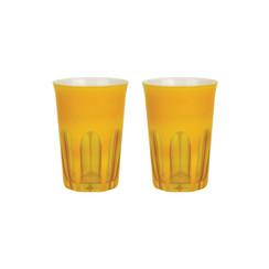 Rialto Glass Tumbler Set/2, Saffron