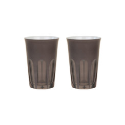 Rialto Glass Tumbler Set/2, Warm Gray