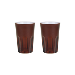 Rialto Glass Tumbler Set/2, Oxblood