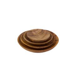 Teak Root Shallow Dish Set/4