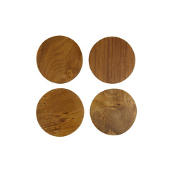 Teak Root Coaster Set/4