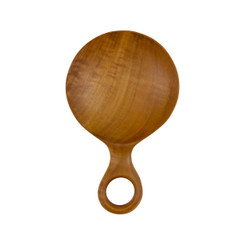 Teak Root Round Paddle Scoop