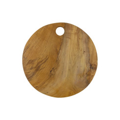 Teak Root Circular-Edge Cutting Board