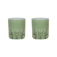 Rialto Glass Old Fashion Set/2, Pale Sage