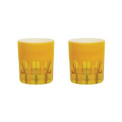 Rialto Glass Old Fashion Set/2, Saffron