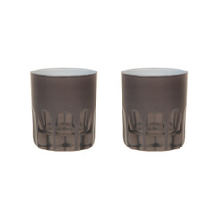 Rialto Glass Old Fashion Set/2, Warm Gray