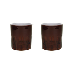 Rialto Glass Old Fashion Set/2, Oxblood