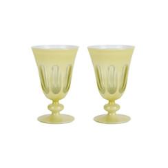 Rialto Glass Tulip Set/2, Crème