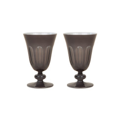 Rialto Glass Tulip Set/2, Warm Gray
