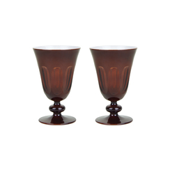 Rialto Glass Tulip Set/2, Oxblood