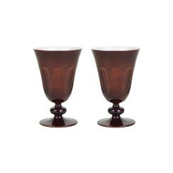 Rialto Glass Tulip Set/2, Oxblood