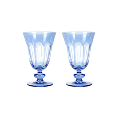 Rialto Glass Tulip Set/2, Thistle