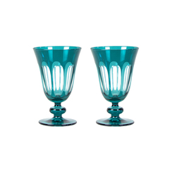 Rialto Glass Tulip Set/2, Millicent