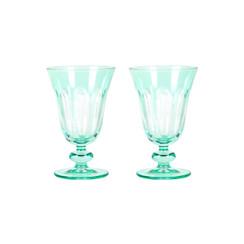 Rialto Glass Tulip Set/2, Menthe