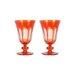 Rialto Glass Tulip Set/2, Lolita
