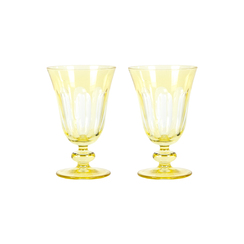 Rialto Glass Tulip Set/2, Limoncello