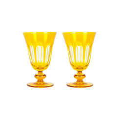 Rialto Glass Tulip Set/2, Ginger