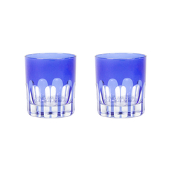 Rialto Glass Old Fashion Set/2, Moon Glow