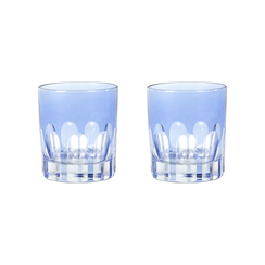 Rialto Glass Old Fashion Set/2, Thistle